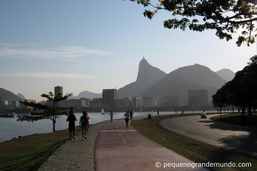 Pão de Açúcar, visto do Aterro do Flamengo durante uma gostosa caminhada