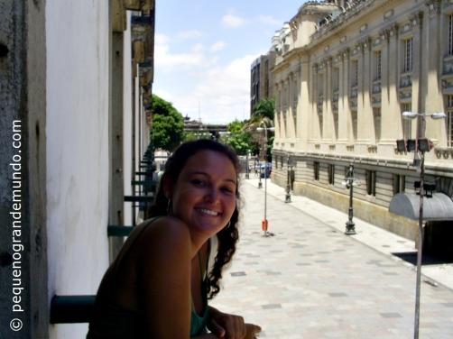 Em uma das varandas do Paço Imperial, com vistas para o Palácio Tiradentes. Praça XV, Centro do Rio.