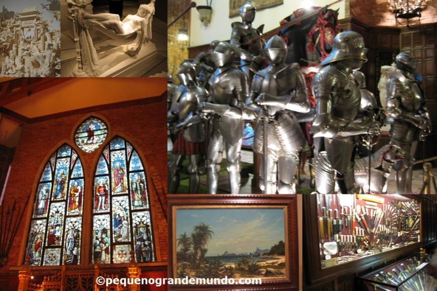 A eclética coleção do Museu Brennand: esculturas orientais, gregas, medievais, vitrais, quadros, espadas , facas e canivetes...
