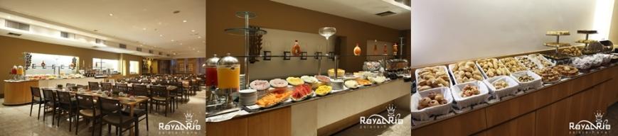 Restaurante no café-da-manhã: fotos do site do hotel. Mas é assim mesmo!