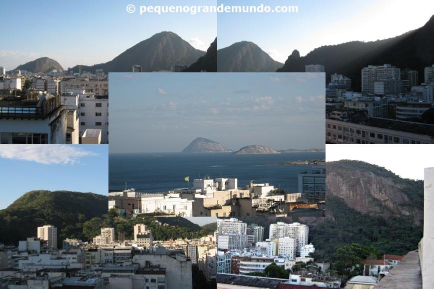 Vista do terraço, com destaque para o mar de Copacabana