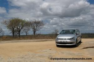 Polo alugado na Avis, posando no meio do Kruger