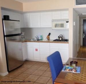 Cozinha no quarto do Hotel Divi Aruba Phoenix