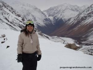 Neve em Penitentes, na Argentina