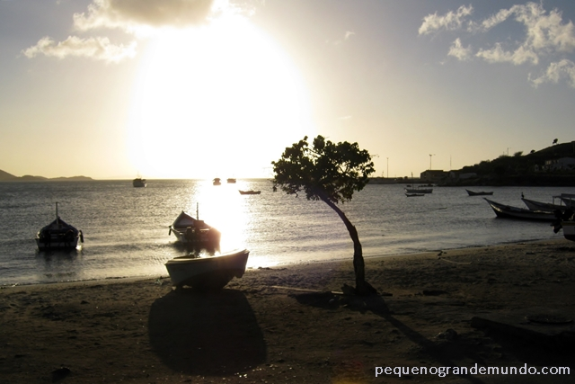 pôr-do-sol em Juan Griego