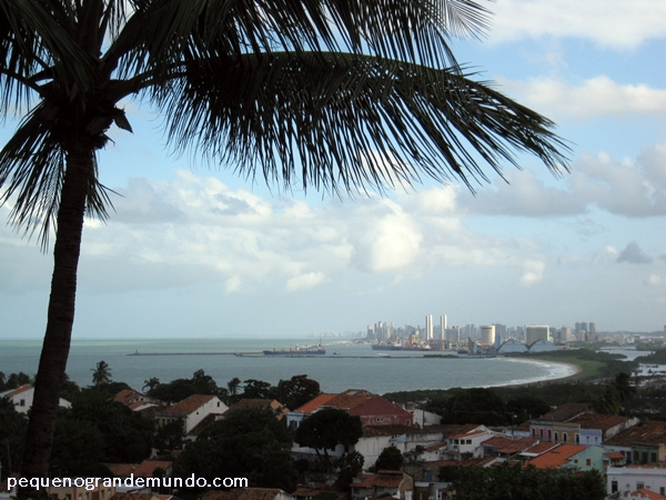 Vista do litoral de Recife