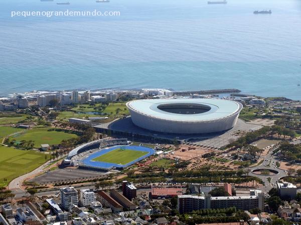 Estádio de Cape Town visto de Signal Hill