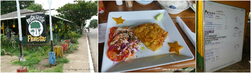 Os restaurantes são simples, mas a comida é deliciosa.