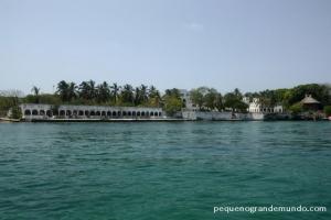 Uma das mansões de Pablo Escobar nas Islas Rosario.