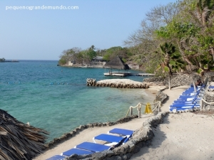 Uma das duas praias do Hotel San Pedro de Majagua