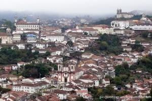 Ouro Preto vista da Igreja Santa Efigênia