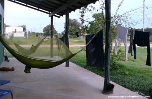Campo na Amazônia: aí ainda tínhamos estrutura e luz! Luxo total!!!