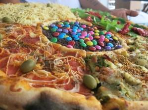 pizza estranha