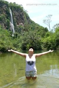 Cachoeira Boca da Onça, a maior do estado de MS.