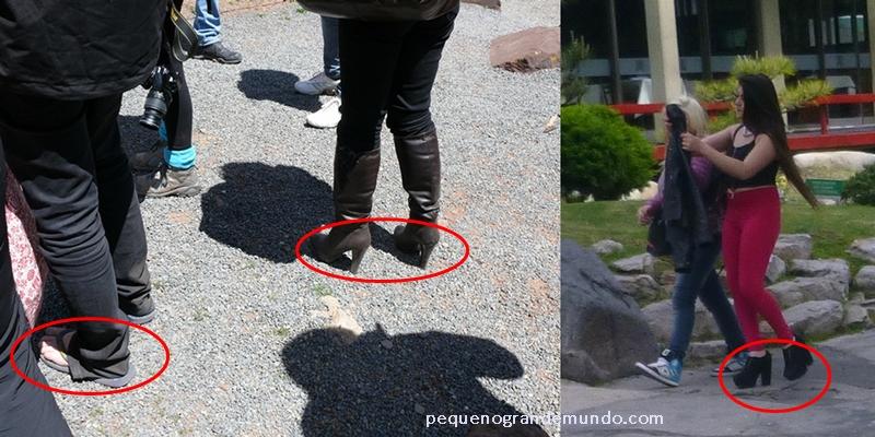 Saltos e chinelos não são calçados apropriados para esse roteiro.