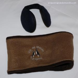 Protetores de orelhas e rosto, comprados no Chile. Não consegui ficar sem eles.