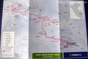 Mapa da rota do Peru Rail. clique para ampliar
