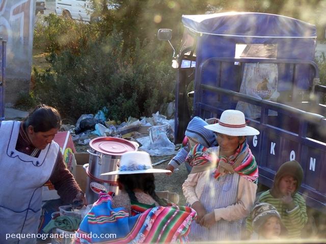 comércio, feira, fronteira Peru - Bolivia