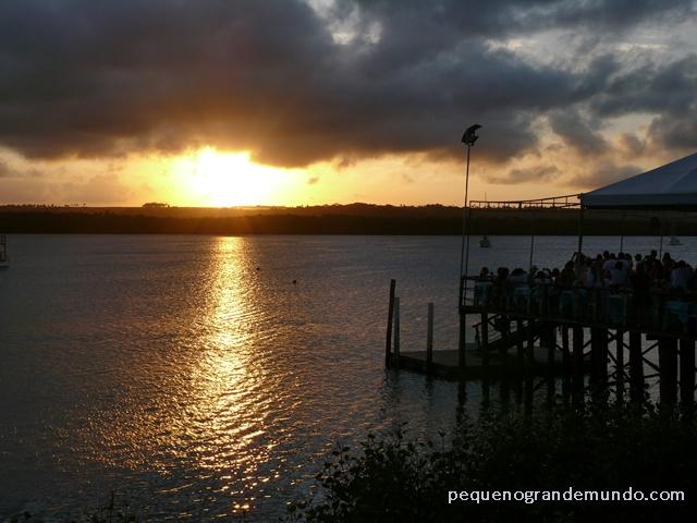 Pôr-do-sol na Praia do Jacaré