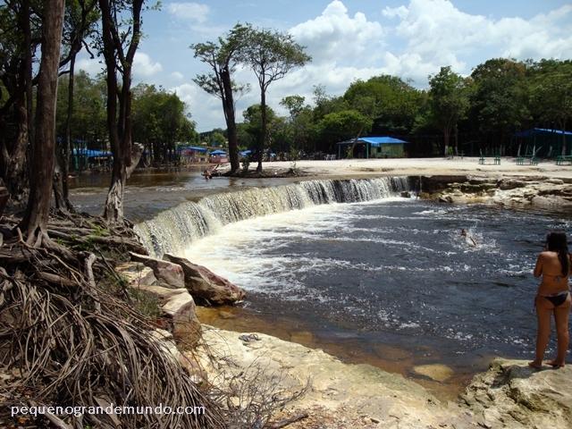 Cachoeira do Castanho durante a vazante (seca)