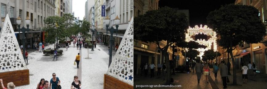XV Novembro, Rua das Flores, Curitiba, Natal Luz
