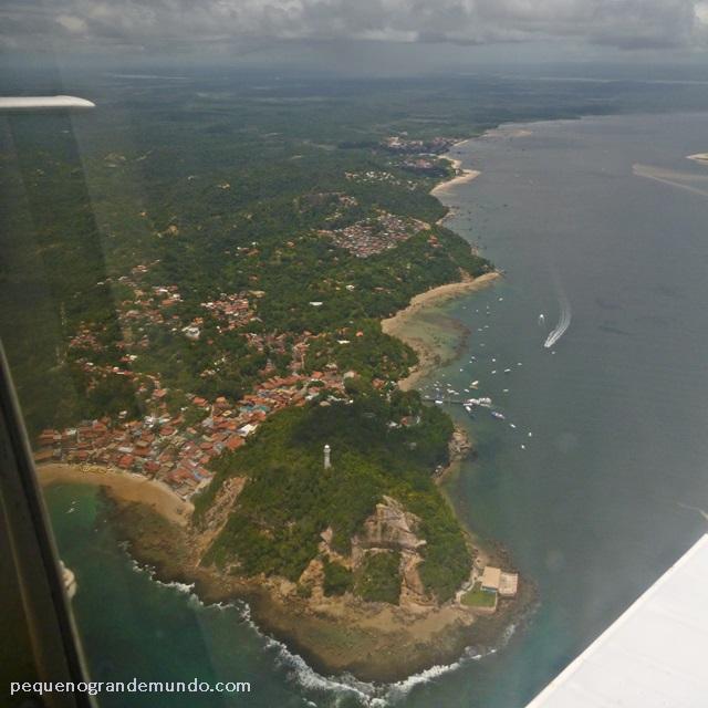 imagem aérea Morro de São Paulo