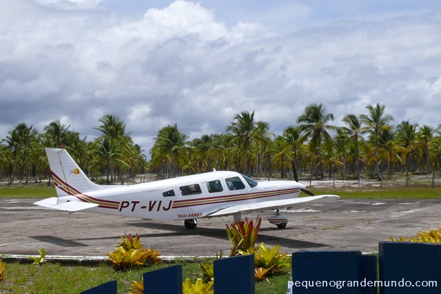 voando entre Boipeba e Salvador